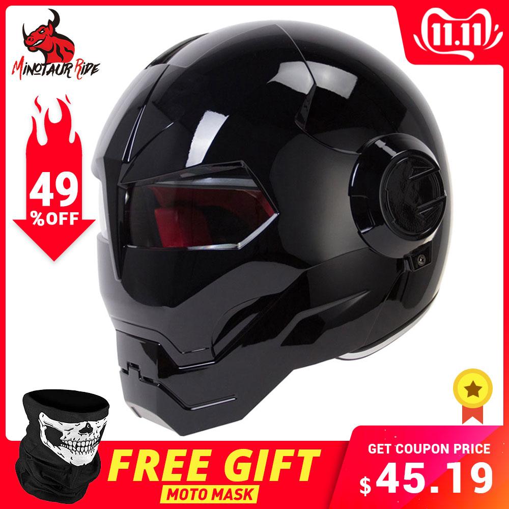 Herobiker capacete da motocicleta do vintage retro moto capacete rosto cheio capacete casco moto cruiser chopper cafe racer