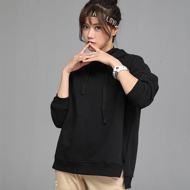 2020 New Hot Sale Ladies Hoodies for Women Fleece Female Winter Solid Colour Casual Sweatshirt 3