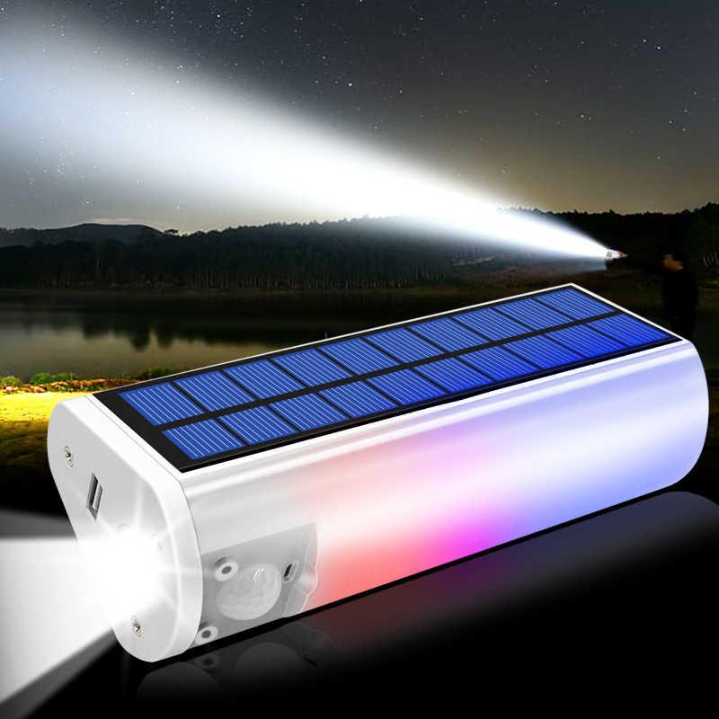 Luz Solar multifuncional 650lm linternas solares portátiles linternas cargador de teléfono exterior Interior lámpara impermeable para Camping