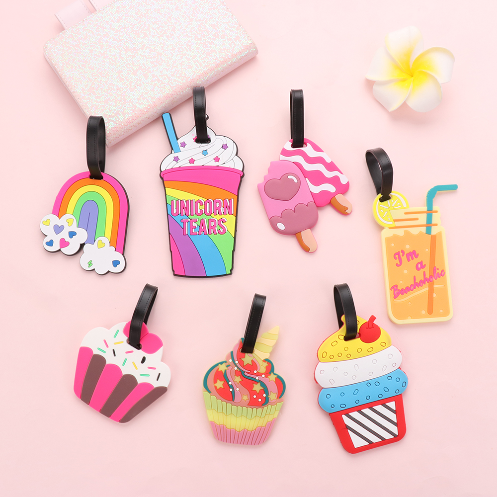New 1PC Women Men Travel Luggage Tags Silicone Suitcase Tags Baggage Boarding ID Name Address Holder Label Travel Accessories