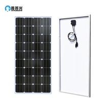 XINPUGUANG 100w 18V Solar Panel Glass PV Module Kit Monocrystalline Solar Cell PV 12V Battery RV/Home Light Roof Power Charger