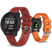 20mm Width Silicone Watchband Strap For Garmin Forerunner 245 645 band Replacement Wrist vivoactive 3 Bracelet