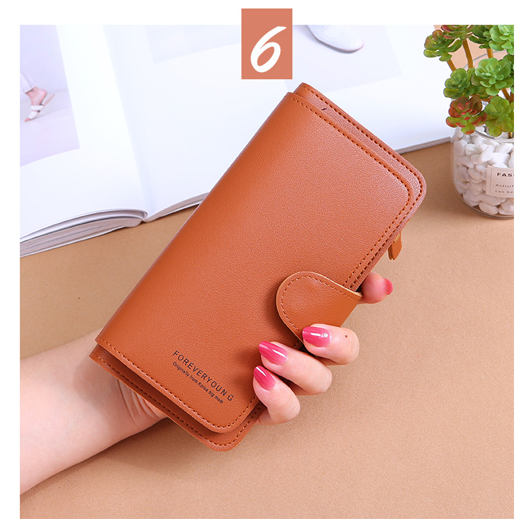 2020 New Style Long WOMEN'S Wallet Buckle Purse Soft Card Mobile Phone Bag Carrying Hot Selling
