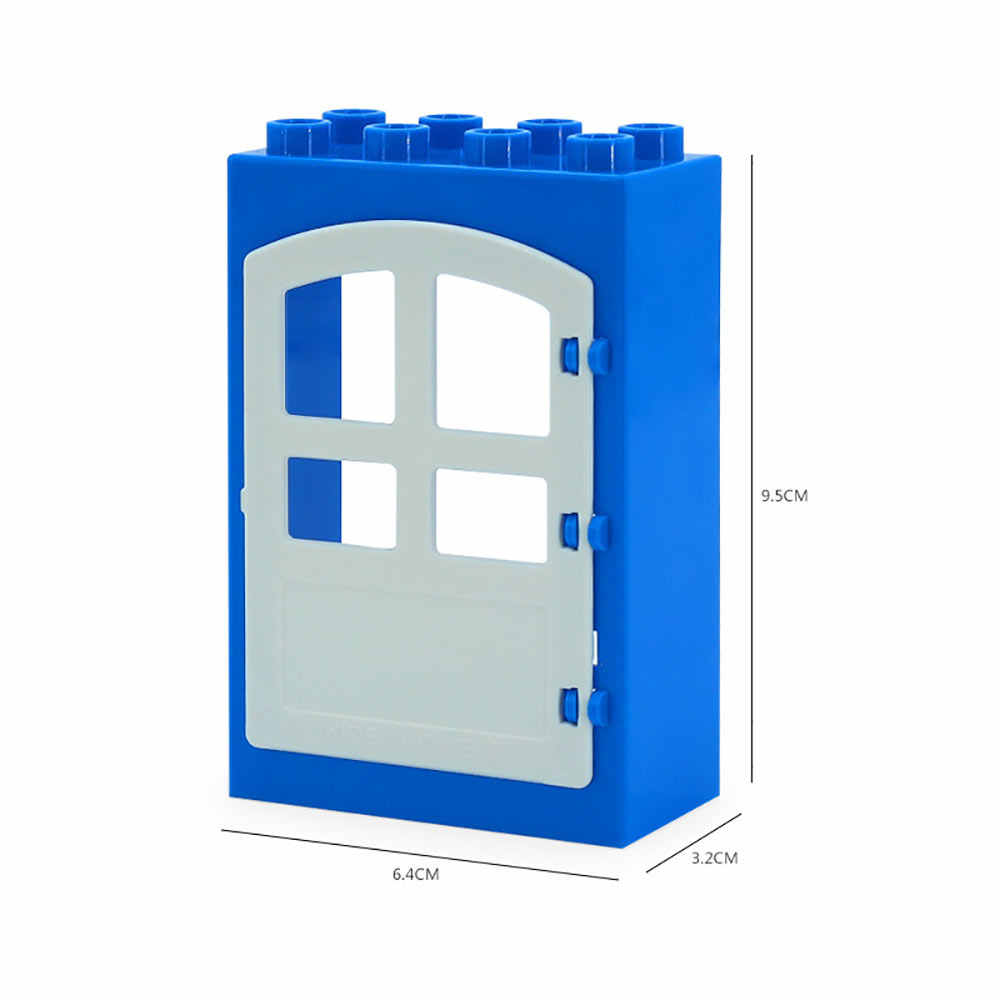 Valla escalera corredera ventana ladrillos grandes partículas bloques de construcción accesorio niños regalo juguetes Playmobil Compatible con Legoly Duplo