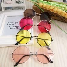 Gafas de sol Redondas de Plástico para mujer, lentes de sol de moda Retro, Marco femenino, accesorios para coche