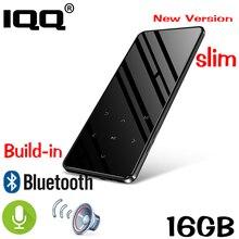 Reproductor de MP3 con pantalla táctil, Bluetooth, 16GB, altavoz HIFI sin pérdidas, reproductor de MP3 delgado portátil con fm suite para correr