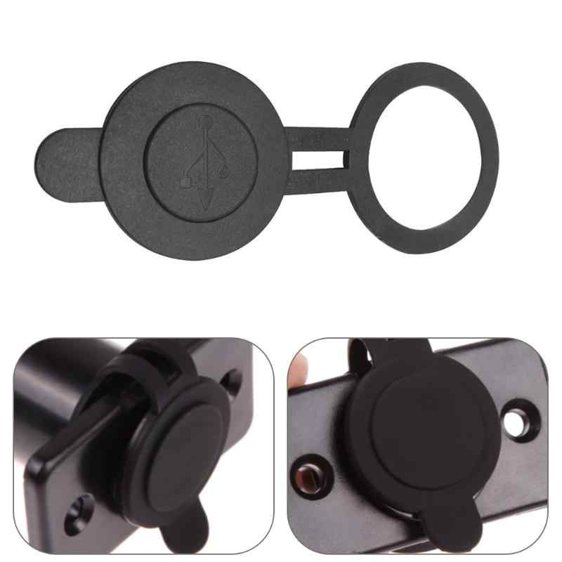 30mm Dia Round Waterproof Dust Proof Cover for Dual USB Car Truck Motorcycle Charger Adapter