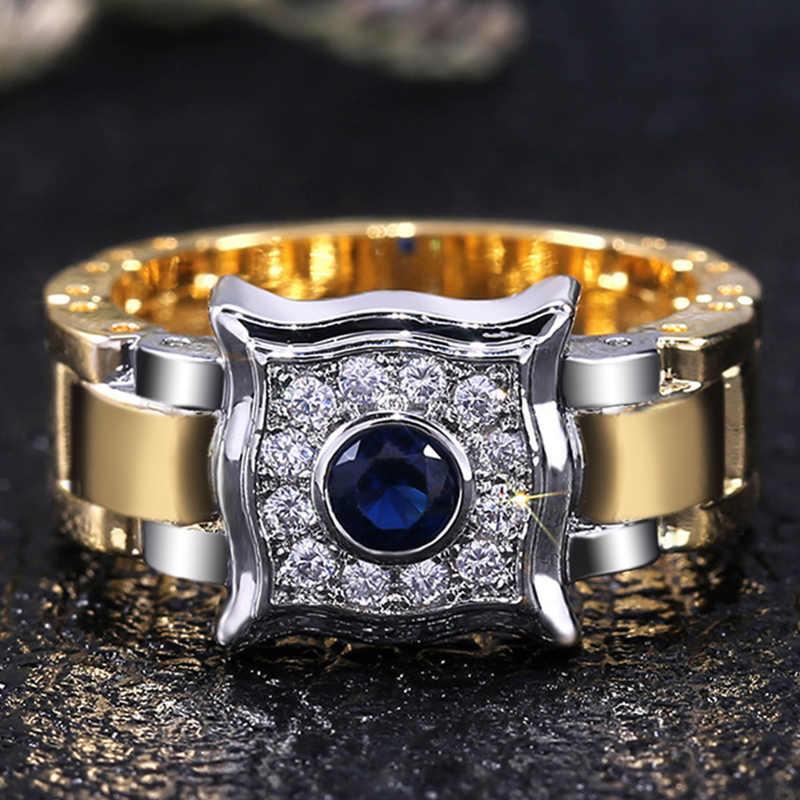 Huitan Creative นาฬิการูปแหวน Joint แฟชั่น Knockle MIDI แหวน Man แฟชั่นผู้ชายโรงงานขายส่ง