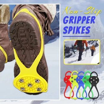 1 Pair Non-Slip Universal Gripper Spikes Shoes Accessory Outdoor Good Elasticity Ice Anti-Slip Over Shoe