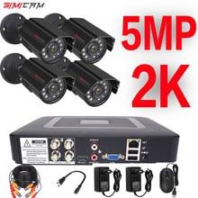 5MP camera Video Surveillance System 4CH AHD DVR Kit 2/4PCS 5.0MP HD Indoor Outdoor CCTV Camera P2P video Security System Set