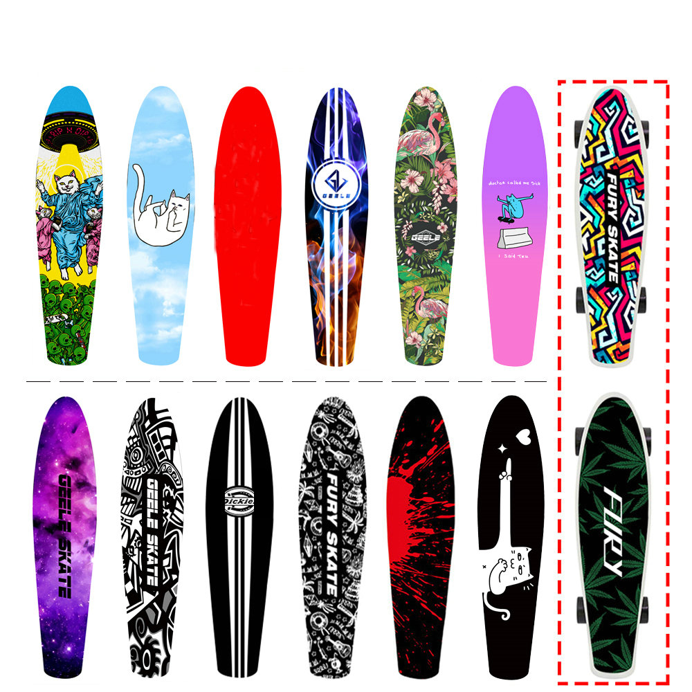 55cm Small Fish Board Special Sandpaper Small Fish Board Grinding Paper Individual Anti-skid Sandpaper Skateboard Sticker Grips