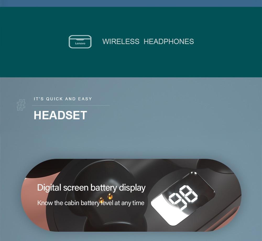 Lenovo XT91 TWS Earphone 5