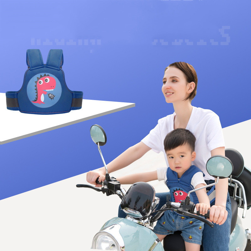 Child Safety Cycling Belt Harness Electric Motorcycle Fixing Anti-fall Adjustable Protection Harnais Enfant Porte Bebe Ceinture