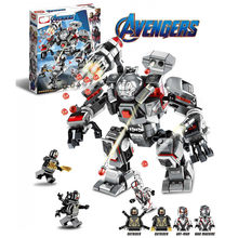 Super Heroes War Machine Buster Compatible Legoinglys 76124 Building Blocks Bricks Educational Toys Christmas Gifts Avengers(China)