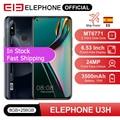 In Stock ELEPHONE U3H Smartphone 8GB 256GB Octa Core Helio P70 6.53 FHD+ 24MP Selfie 48MP Dual Camera Android 9 Mobile Phone