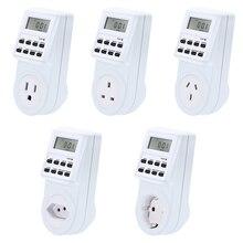 Timer Switch EU AU US BR UK Plug Socket Power Electrical Weekly 7Day Programmable Wall Digital Plug-in 250V 120V 230V