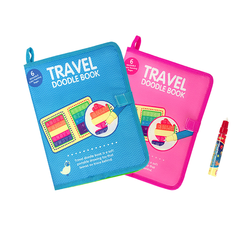 Reusable Magic Water Drawing Book Coloring Book With Water Pen Painting Toys Drawing Doodle Board For Children Birthday Gift >
