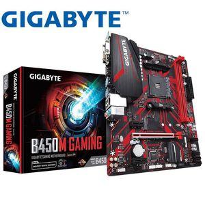 Новая игровая Материнская плата Gigabyte GA B450M для AMD B450 /2-DDR4 DIMM /M.2 /USB3.1 /Micro-ATX /New / Max-32G Channel AM4