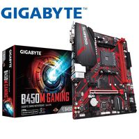 Новая Gigabyte GA B450M GAMING для AMD B450/2-DDR4 DIMM/M.2/USB3.1/Micro-ATX/New/Max-32G Channel AM4 настольная материнская плата