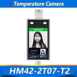 Cámara con detector de temperatura Indicador de temperatura 1080P alarma de voz Control de acceso Facial tiempo de asistencia