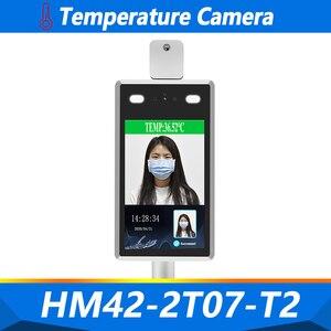Wykrywanie temperatury aparat rozpoznawanie twarzy wskaźnik temperatury 1080P Alarm głosowy kontrola dostępu do twarzy czas obecności