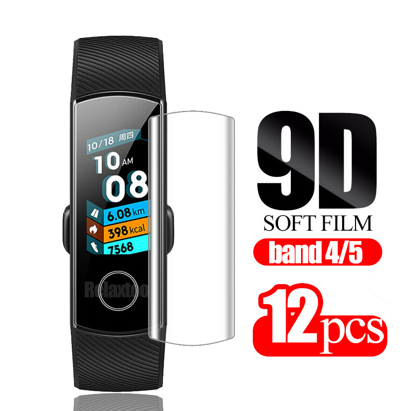 12pcs For Huawei Honor Band 5 Screen Protector Honor Band 4 Film Soft Films On Band4 Band5 Smart Bracelet Accessories Not Glass