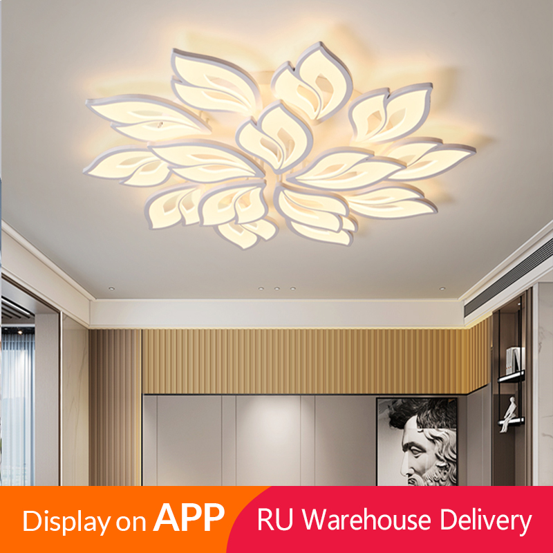 IRALAN New LEDs Chandelier Modern Flowers For Living Room Bedroom remote control/APP support Home design lighting fixtures|Ceiling Lights|   - AliExpress