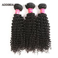 3/4 Pcs Kinky Curly Virgin Hair Weave Brazilian Human Virgin Hair Bundles Bleachable Double Drawn Natural Color Human Remy Hair