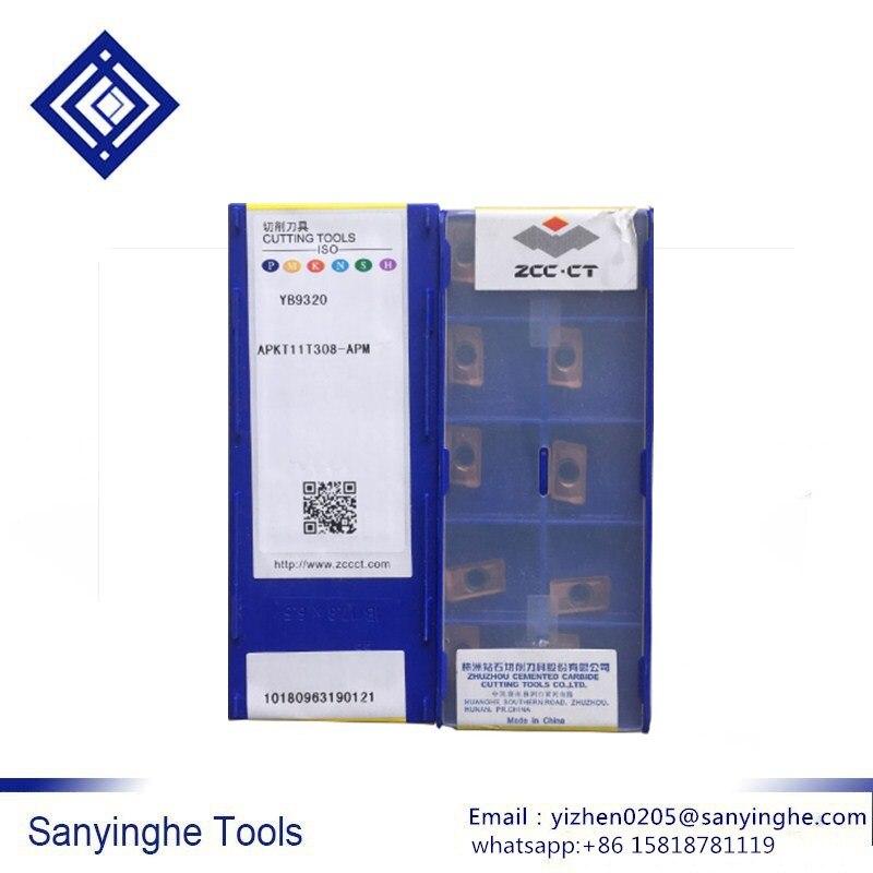 ZCC APKT11T308-APM YB9320 50PCS CARBIDE INSERTS