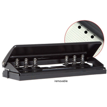 Punzonatrice regolabile a 6 fori carta Standard a fogli mobili strumento per rilegatura per ufficio regolabile adatto per carta A5