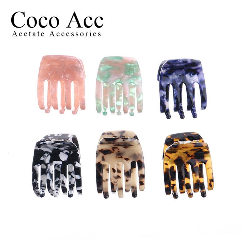 Wholesale Classical Celluose Acetate Acrylic Hair Claws Clamp Clasp Clips Jaw Decorations For Women Girls