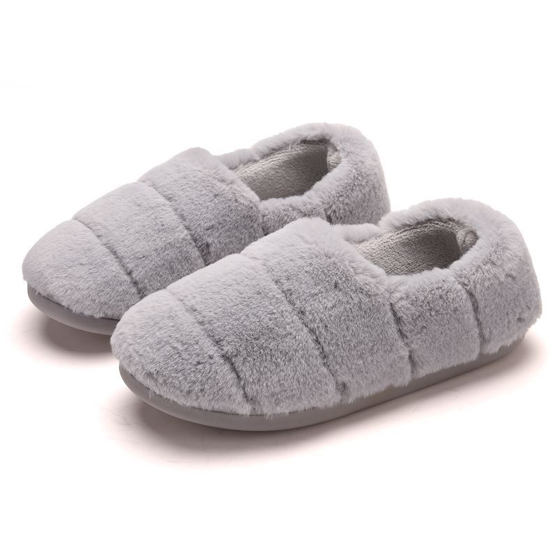 Image 5 - WFL Womens Shoes Warm Winter Soft Cotton Lovely Women Men Couples House Shoes Thick Sole Anti slip Bottom Home SlippersSlippers   -