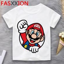 Mario Bros baby teenage big bother t shirt tshirt anime graphic costume e girl enfant fille t-shirt teenage