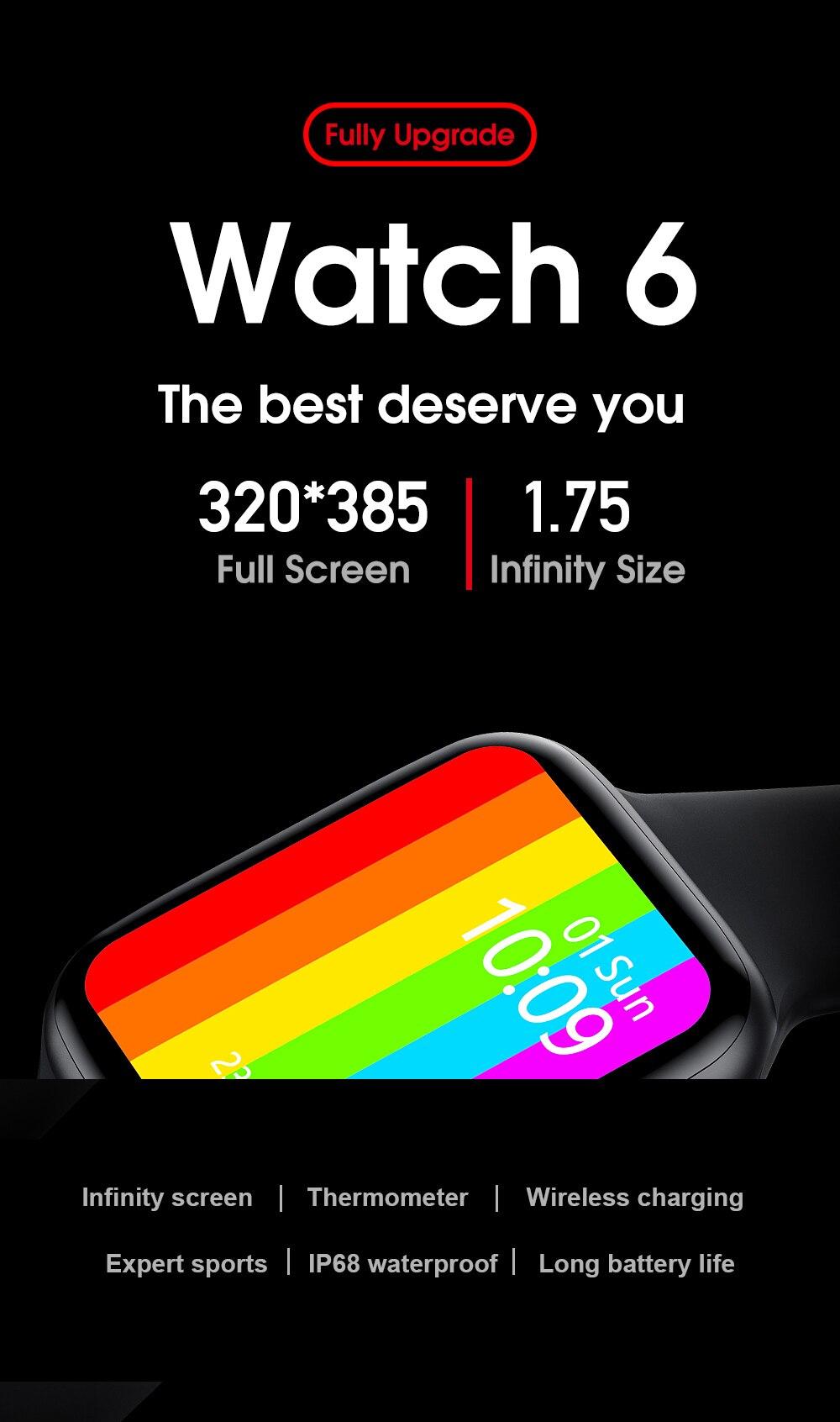 H950188b9c61c408e824b0b2edfe85540W IWO W46 Better Than W26 Smartwatch IWO 12 Pro 13 Smart Watch Men Women DIY Face Wireless Charger Body Temperature Smartwatch