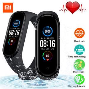 Xiaomi Music-Bracelet Mi-Band Fitness 5-Bluetooth-Tracker Amoled-Screen Wristband-Color
