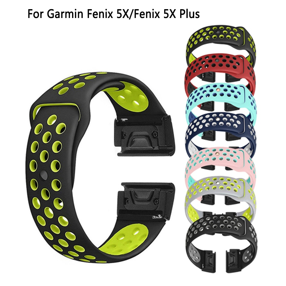 Replacement Silicone Bracelet for Garmin Fenix 5X 5XPlus Smart Watch Band 26mm Quick Fit Wristband