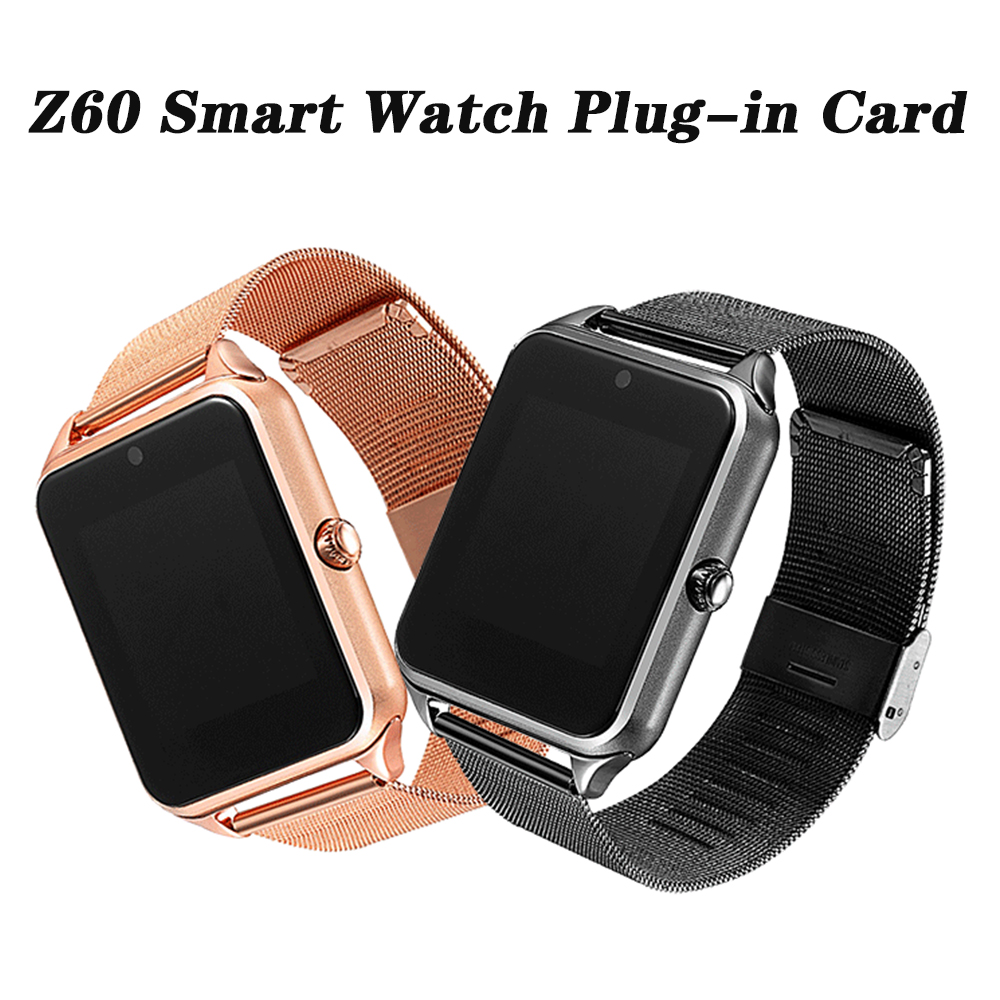 Z60 Smart Watch G68 Plus Metal Strap Bluetooth Wrist Smartwatch Support Sim TF Card Android&IOS Watch Multi-languages PK S8 Z28