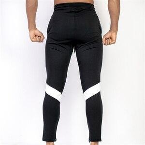 Image 2 - جديد الرجال ركض سراويل تقليدية اللياقة البدنية الرجال رياضية بنطلون قيعان نحيل Sweatpants بنطلون أسود صالات رياضية بنطلون ركض