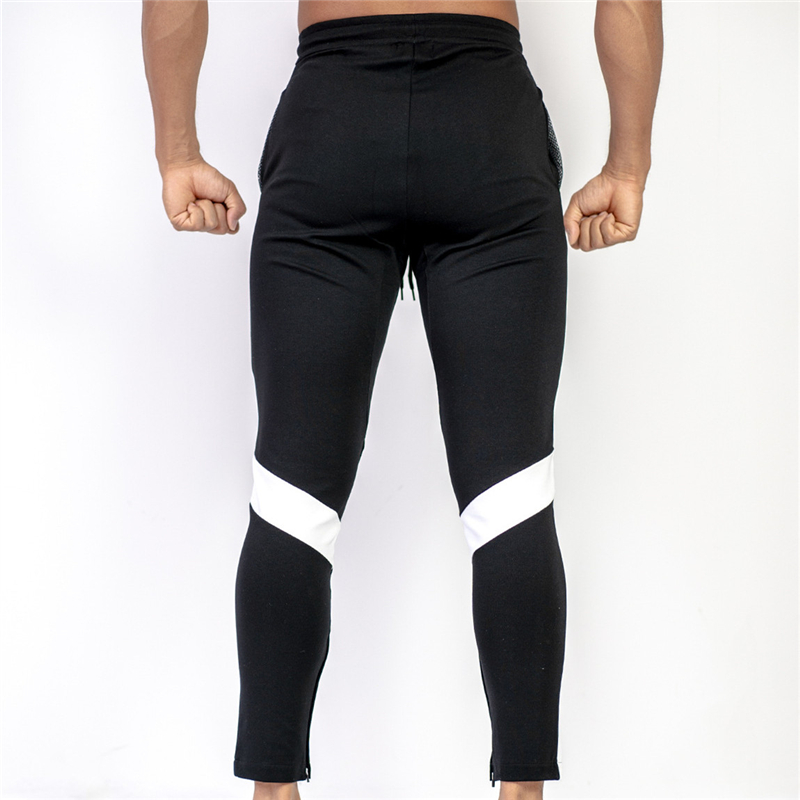 Image 2 - New Men Joggers Casual Pants Fitness Men Sportswear Trousers Bottoms Skinny Sweatpants Trousers Black Gyms Jogger Sweat Pants-in Sweatpants from Men's Clothing