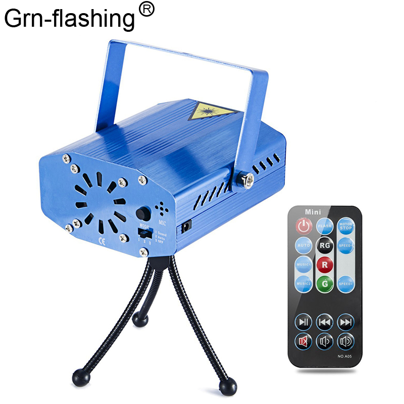 LED Laser Lights Projector Stage Light Sound Activated Auto Flashing Led Stage Lights For DJ Disco Party Show With Controller