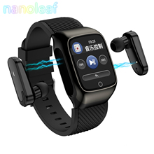NANOLEAF 2 in 1 S300 Smart Watch Mens Earbuds TWS Bluetooth 5.0 Headphones Smart Watch Music Exercise Workout for Android iOS