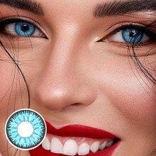 Lentilles de Contact colorées pour les yeux, 2 à pièces/paire couleurs, pour la série Vika tricolore, pour Cosplay