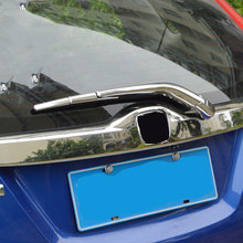ABS Chrome For Honda FIT JAZZ accessories 2014 2015 2016 car styling car rear Wiper frame cover trim strip fit for 2014 honda fit jazz chrome front rear headlight tail light cover trim
