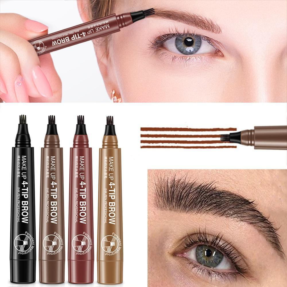 Color Nana Eye Color Four-fork Water Eyebrow Pencil Lasting Waterproof And Sweat-proof 1