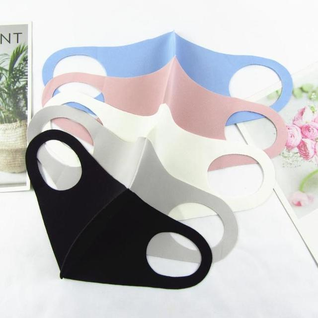 Multi-Style Solid Color Kpop Cotton Mouth Mask Anti Dust Mouth-muffle Washable Black Mask On Face For Man Women Respirator 1