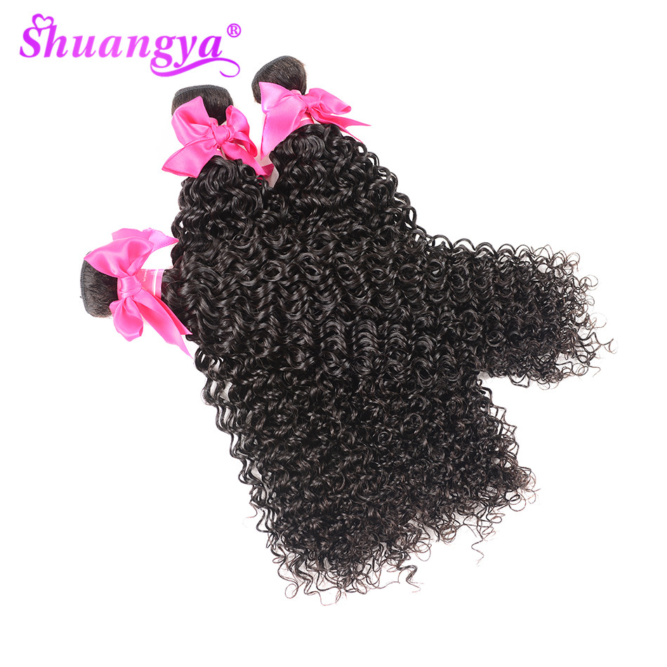 Brazilian Kinky Curly Hair 3 Bundles Deals 100 Human Hair Weave Bundles 8 28 Inch Hair