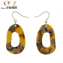 SHELA Acrylic Resin Drop Earrings for Women Geometric Bohemian Boho Vintage Japan Korean Style Fashion Statement Pendientes