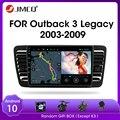 Автомагнитола JMCQ на Android 9,0 для Subaru Outback 3 Legacy 4 2003-2009 мультимедийный видеоплеер 2 din DSP GPS-навигатор раздельный экран