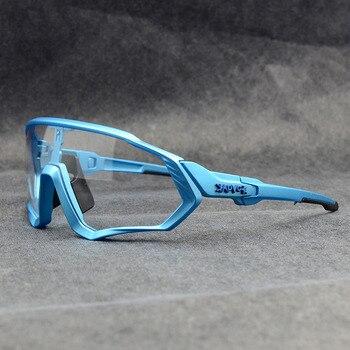 Photochromic ciclismo óculos de sol homem & mulher esporte ao ar livre óculos de bicicleta óculos de sol óculos de sol gafas ciclismo 1 lente 10
