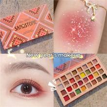 32 Colors Changeable Pink Violet Eye Shadow Palette Makeup Matte Shimmer Glitter Eyeshadow Powder Waterproof TSLM1